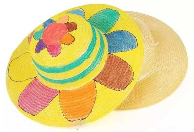 玩转色彩 手绘风筝&麦田草帽 涂画是孩子创意挥洒的天性 让孩子们插